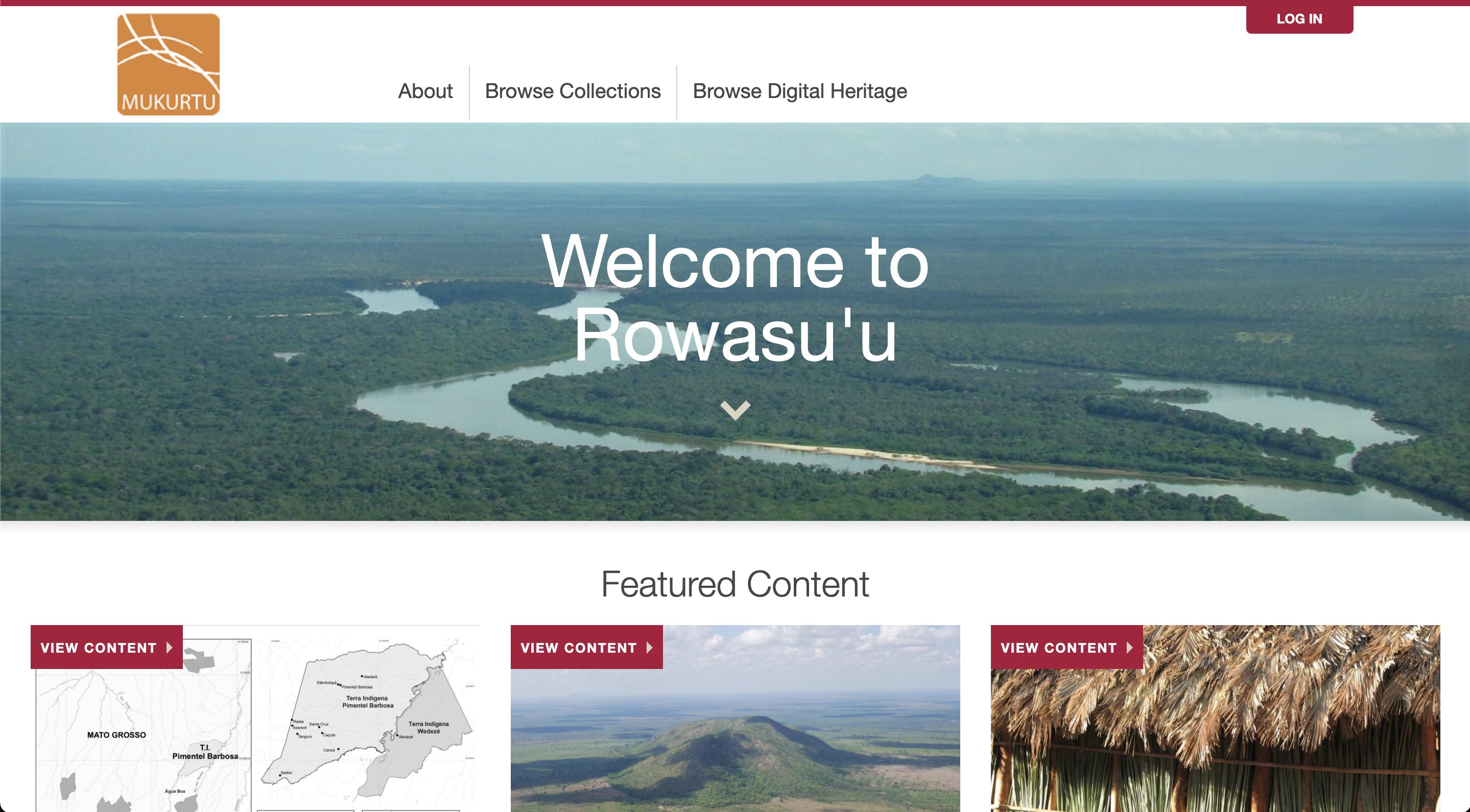 Screenshot of Rowasu'u Homepage